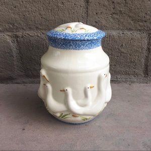 Farmhouse Goose Cookie Jar